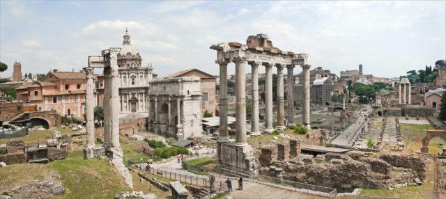 Le forum Romain (depuis la Capitole) Rome