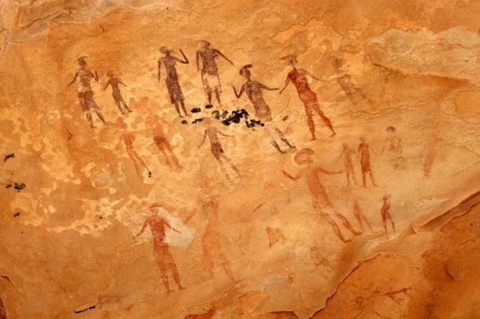 peintures rupestres Tassili Najjer