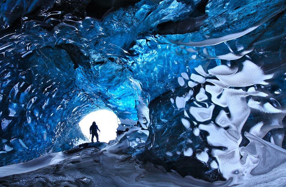 Crystal Cave - Svínafellsjökull in Skaftafell, Iceland