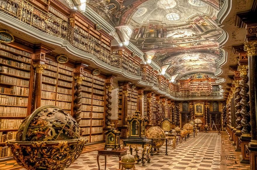 la plus grande biblioth que du monde est prague. Black Bedroom Furniture Sets. Home Design Ideas