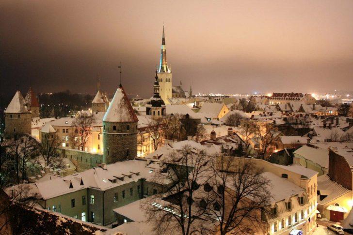 Hiver à Tallinn, Estonie