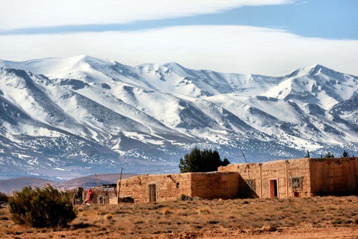 Les montagnes Atlas au maroc