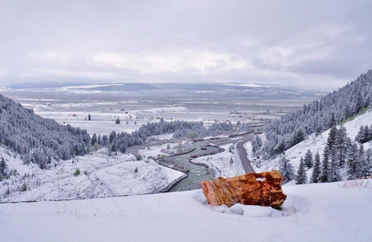 Parc national de Yellowstone en hiver / Madison River