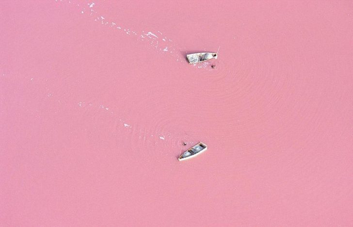 Lac retba au Sénégal