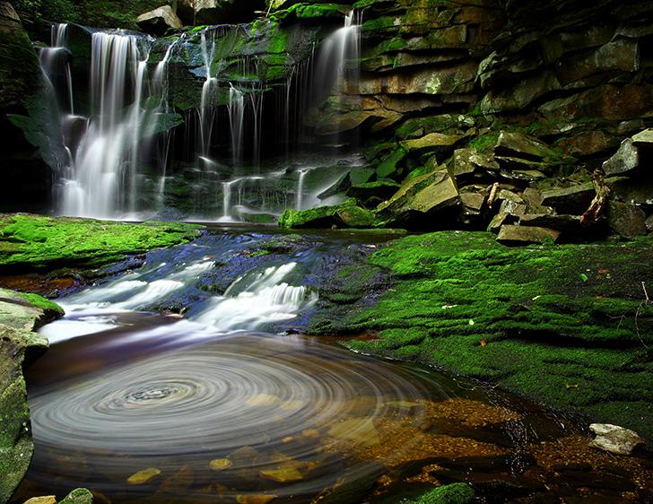Blackwater-Falls-State-Park-en-Virginie-Occidentale
