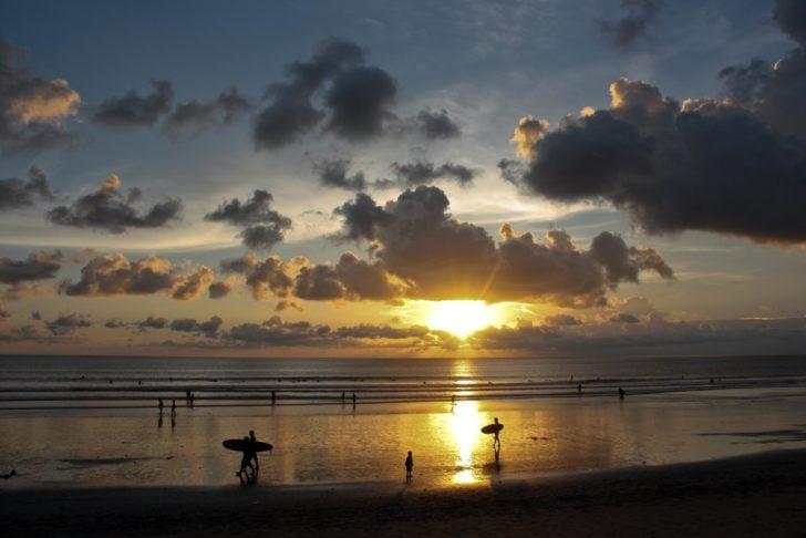 Coucher de soleil à Bali, Kuta