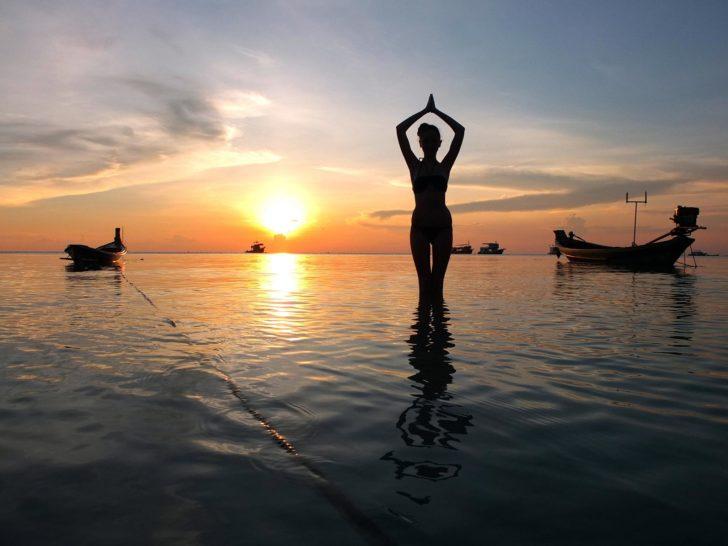 Magnifique coucher de soleil sur l'île de la Tortue