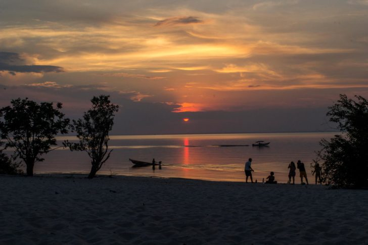 coucher de soleil Alter do Chao Amazonie