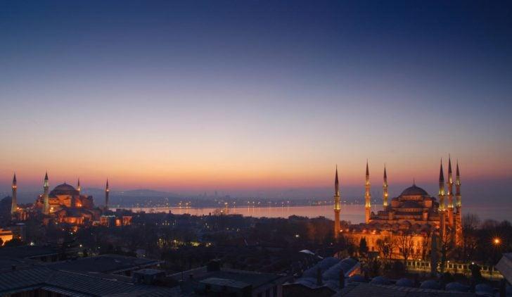Coucher de soleil Istanbul