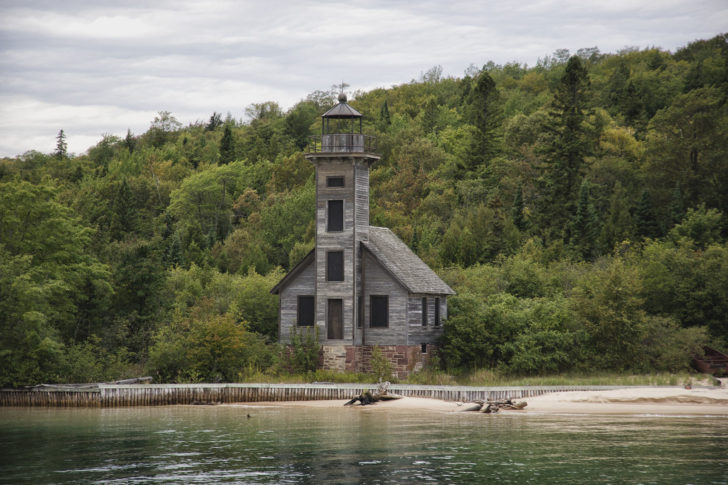 Grand Island East Channel Lighthouse at Pictured Rocks National Lakeshore