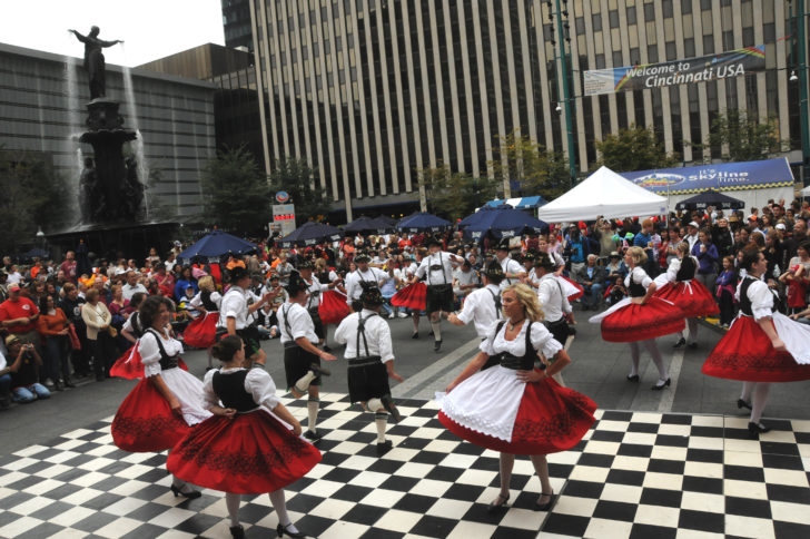 Danse traditionnelle, Oktoberfest à Cincinnati