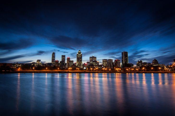 Début de la nuit à Montréal