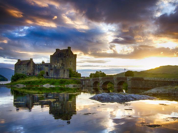 Château dans les highlands ecosse