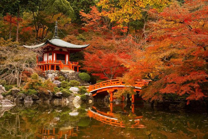 Rivière Ooi, Arashiyama au Japon en automne