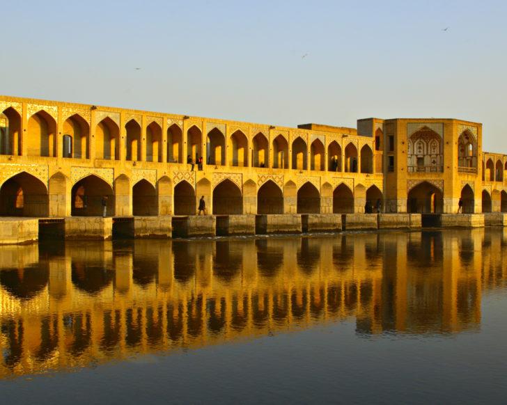 le pont khaju joyaux d'ispahan iran