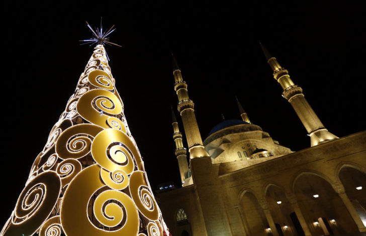Beyrouth, Liban, Sapin de Noël