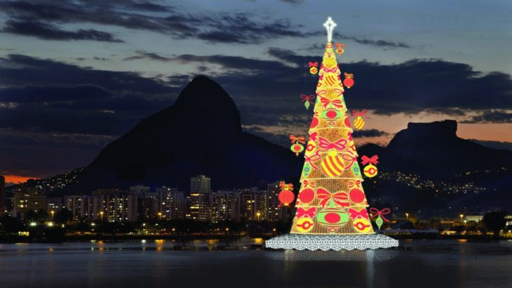 Brésil, Rio, sapin sur lagune