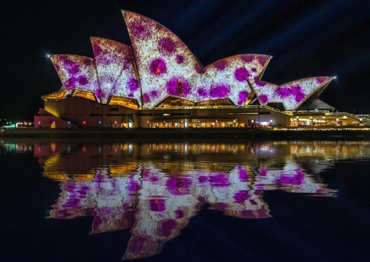 Australie, Sydney, opéra lumières