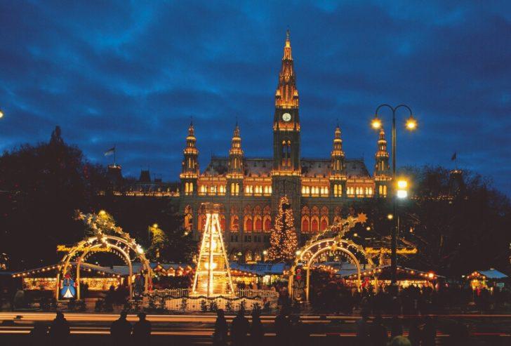 Autriche, Vienne, Décorations Noël