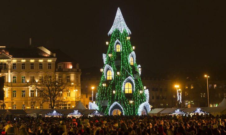 Lituanie, Vilnius, SApin Noël