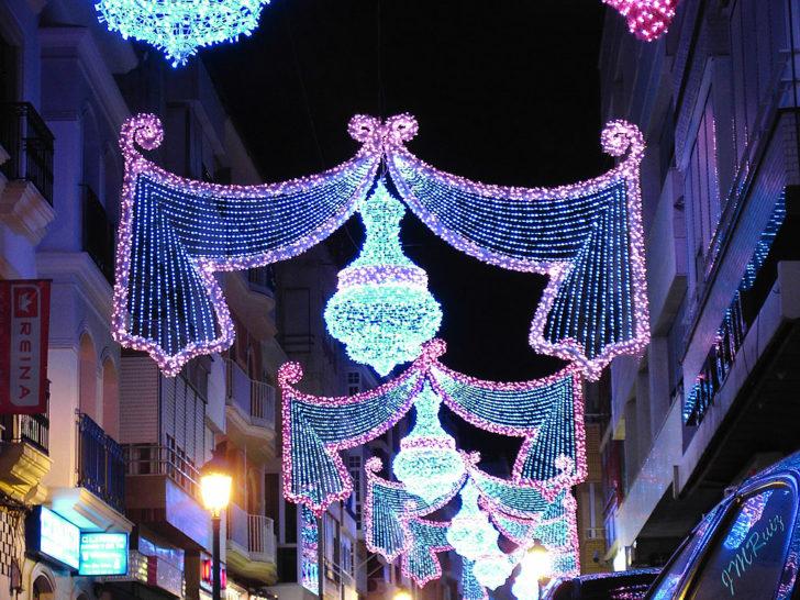 Espagne, Puente Genil décorations Noël