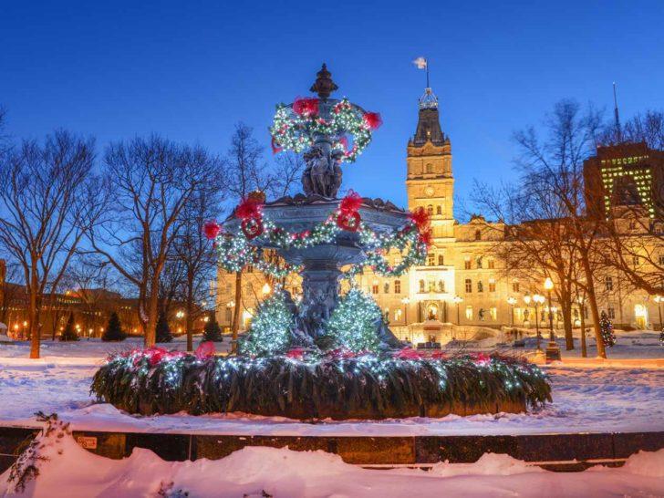 Québec, Hôtel du Parlement, Noël