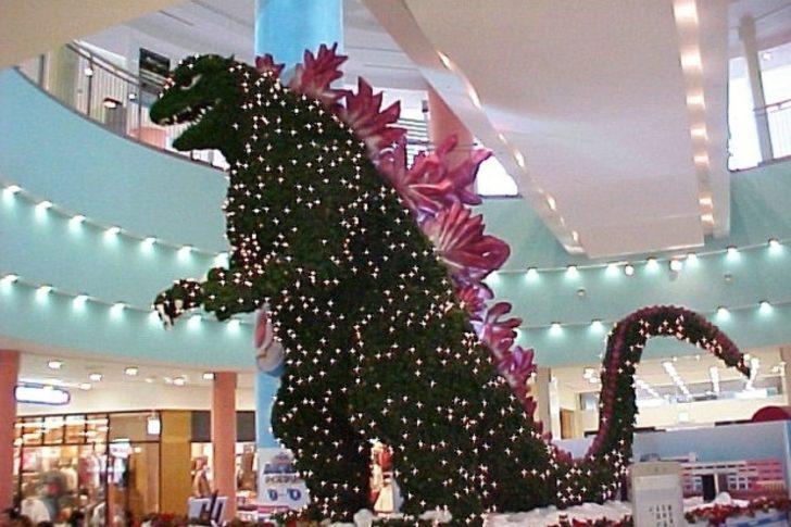 Japon, Tokyo, Sapin Noël Godzilla
