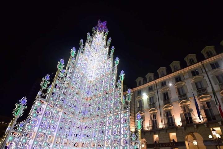 Italie, Turin, sapin en verre