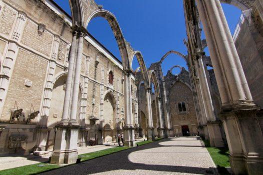 Les ruines du couvent des Carmes