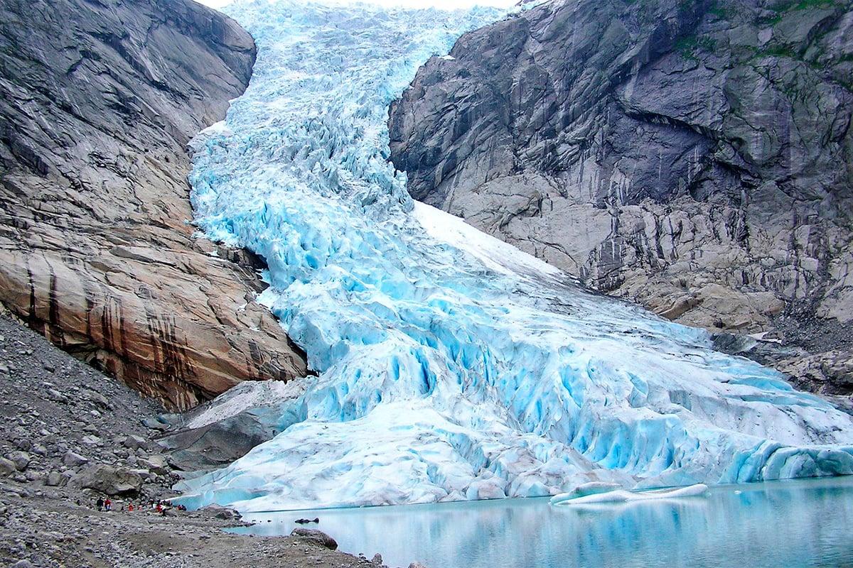 Glacier briksdalsbreen Norvège