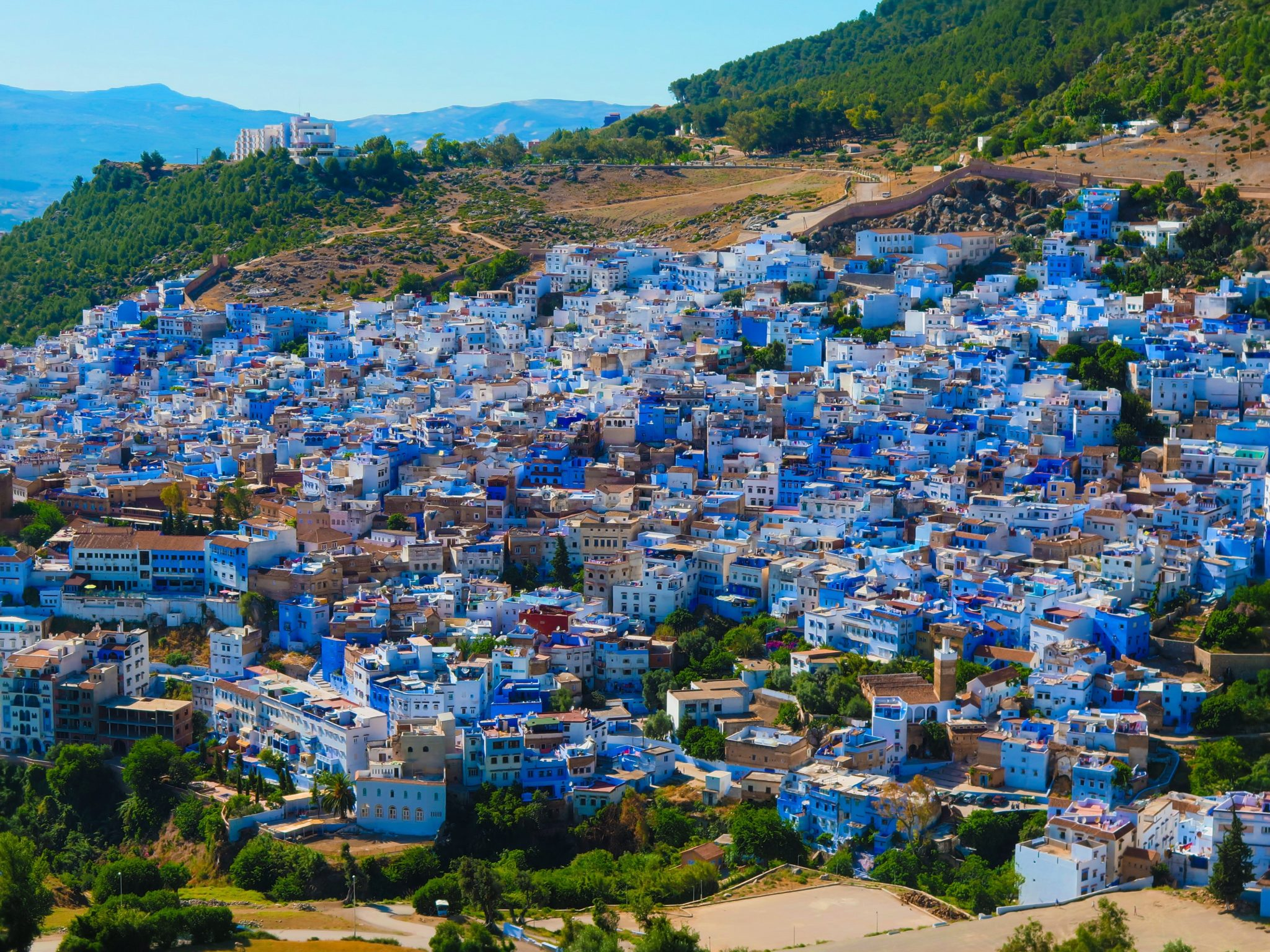 Chefchaouen, Maroc, ville bleue
