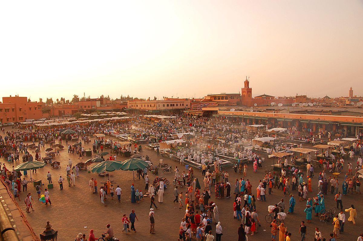 Place Jemaa El-Fna, Maroc