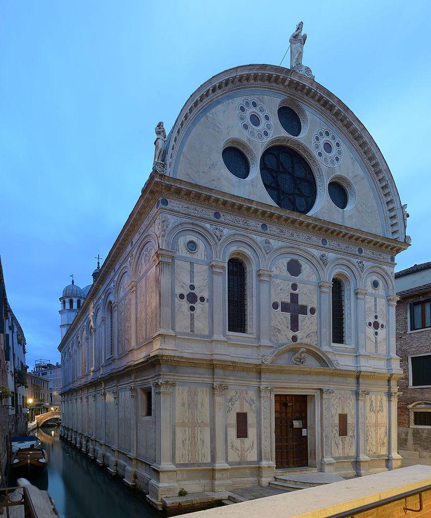 Santa_Maria_dei_Miracoli_facciata_sud_Venezia_notte