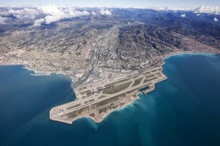Aéroport de Nice - Vue aérienne