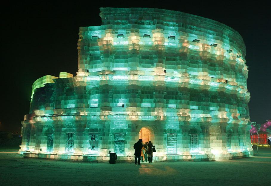 colisée de glace, Harbin festival chine