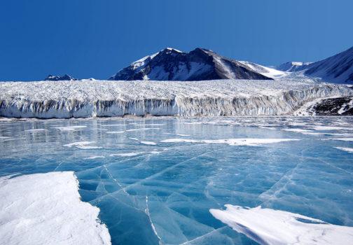 Glacier île du pin, antarctique