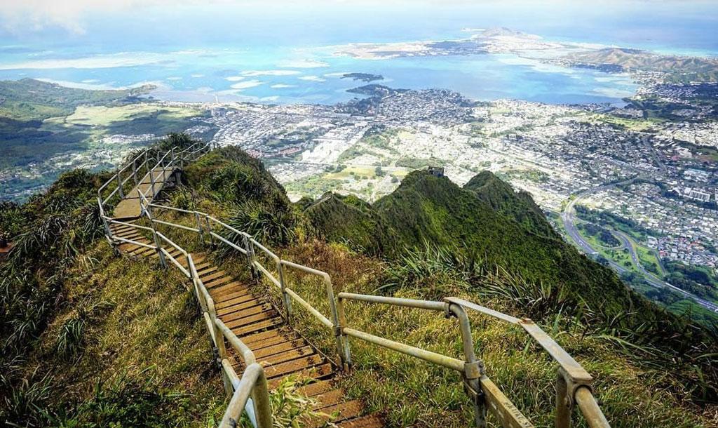 hawaï, escalier du paradis