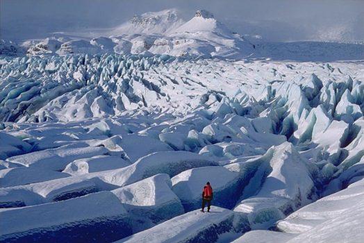 glacier Vatnajokull, Islande