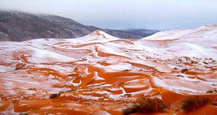 De la neige au sahara