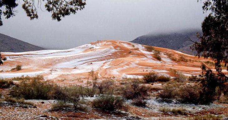 neige rare sahara