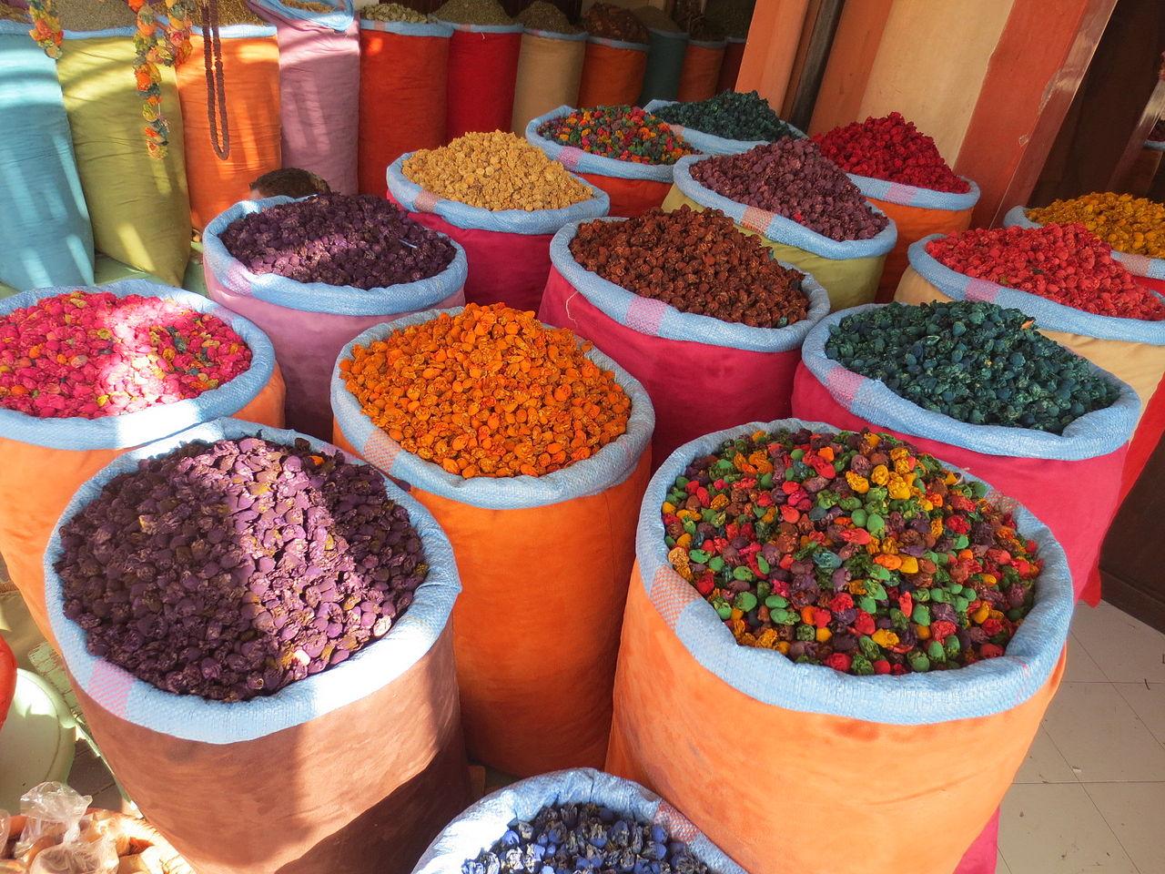 souk marrakech, épices