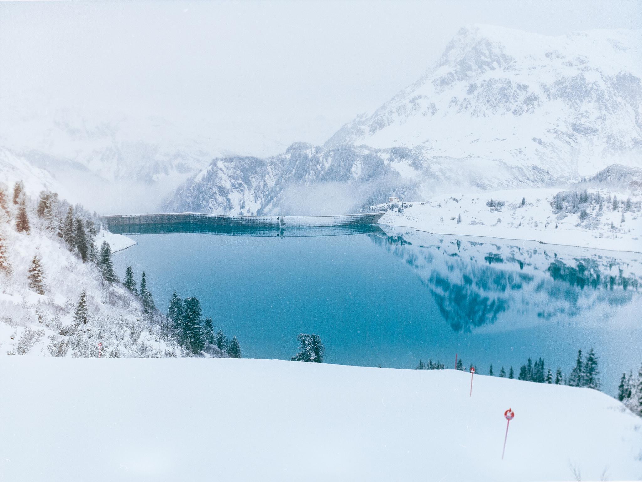 Autriche, montagne neige