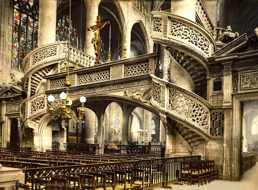 Eglise St._Etienne-du-Mont,Paris,France