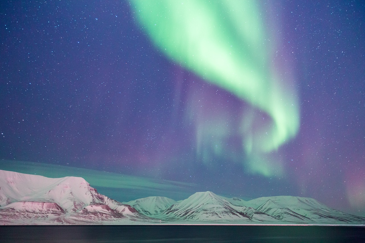 Norvège, Svalbard, aurore boréale