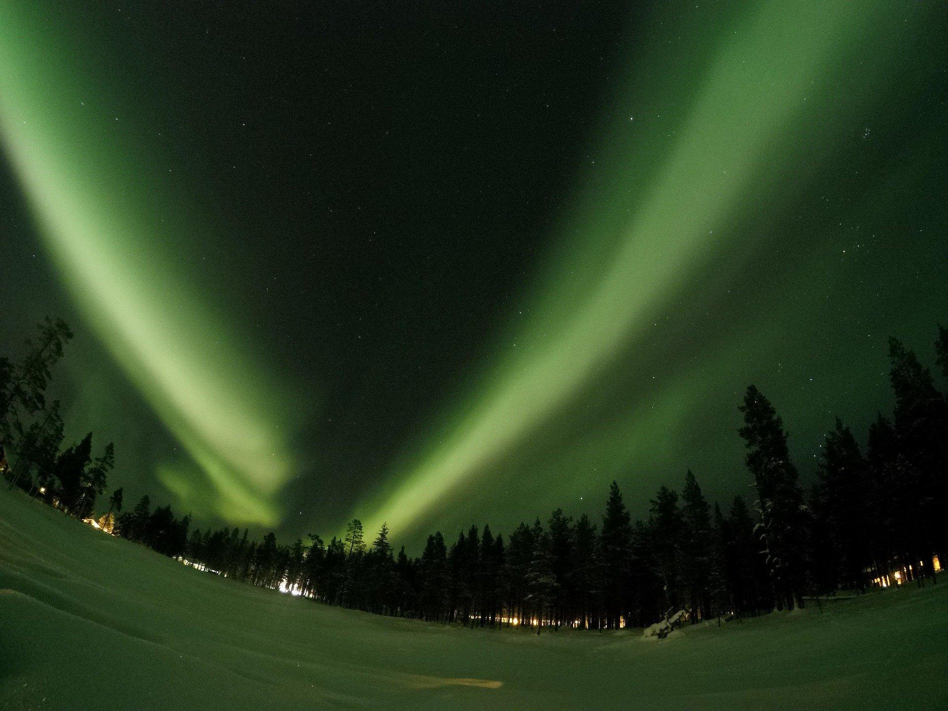 finlande aurores boréales