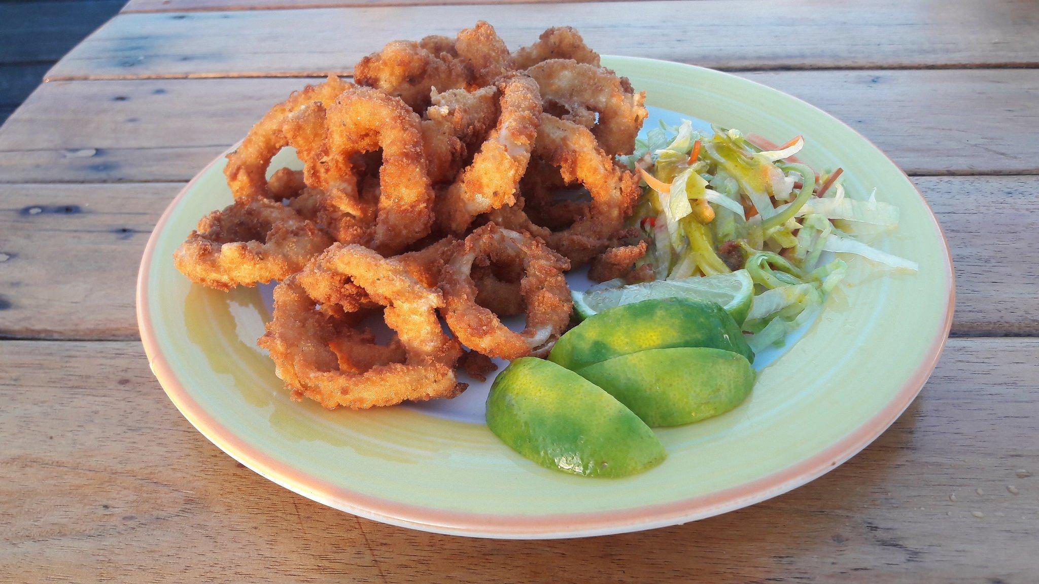 Calamars frits à la romaine, recette italie