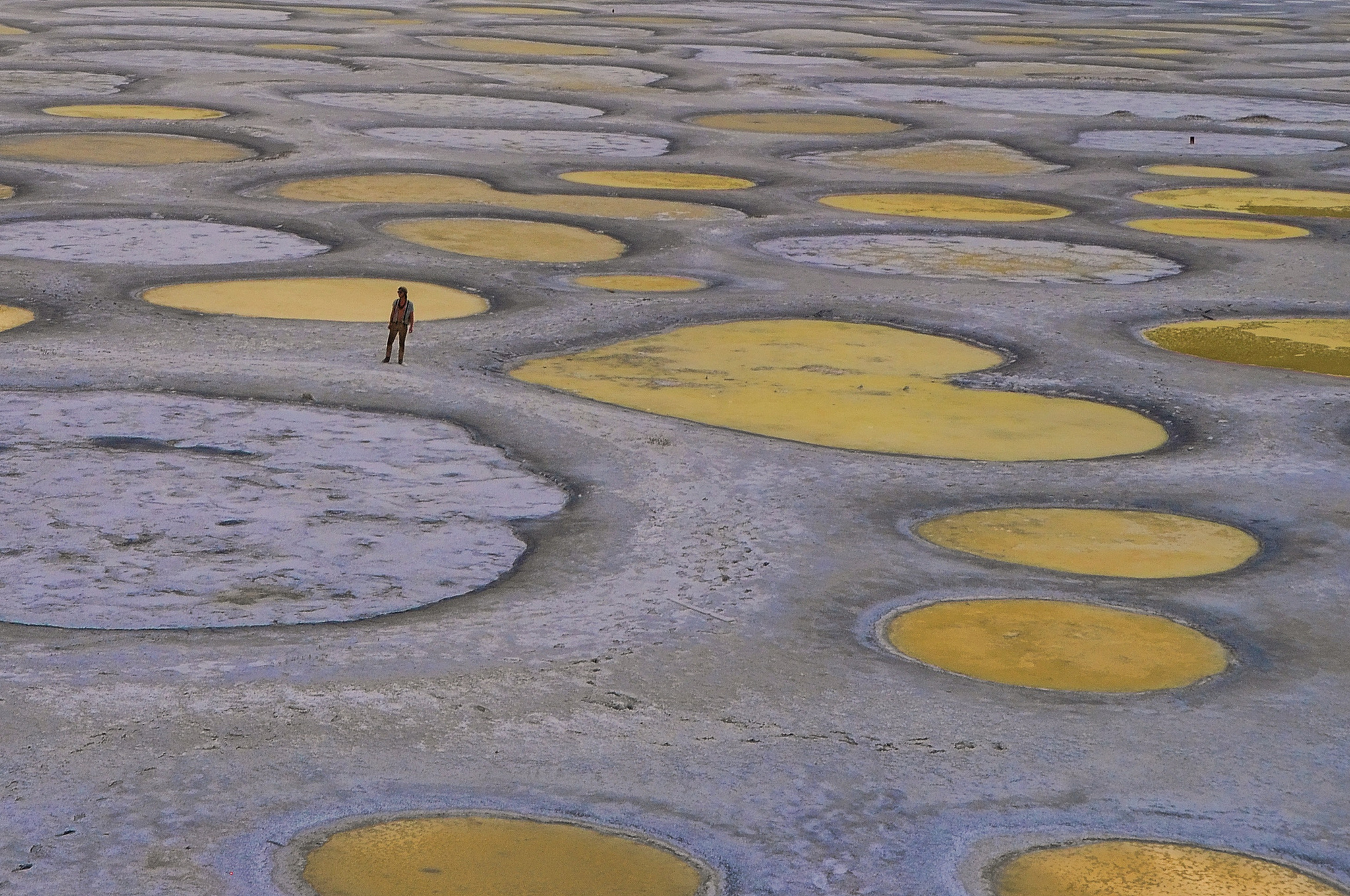 Spotted Lake, colombie britannique, canada