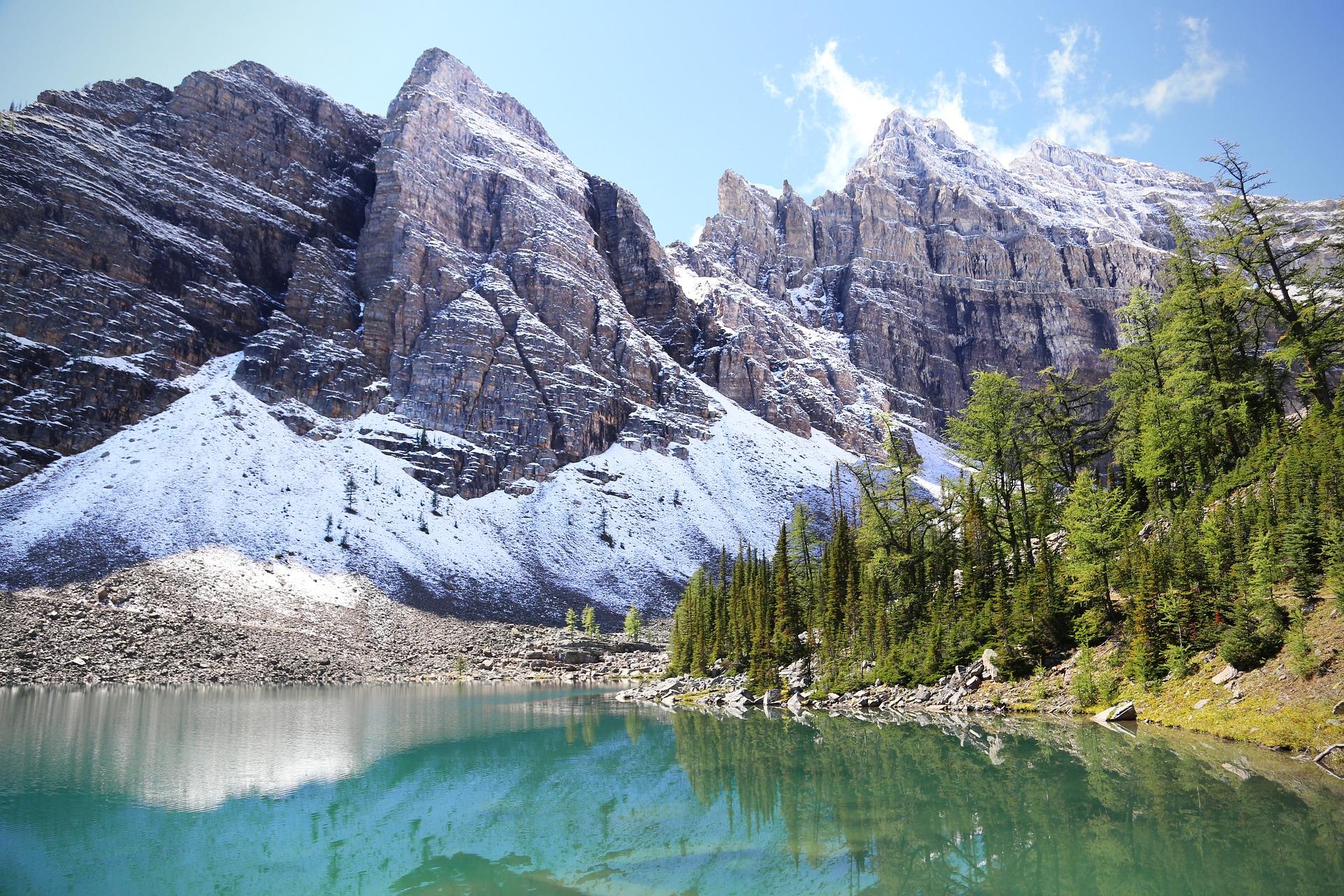 canada, parc naturel, lac Agnès, Banff