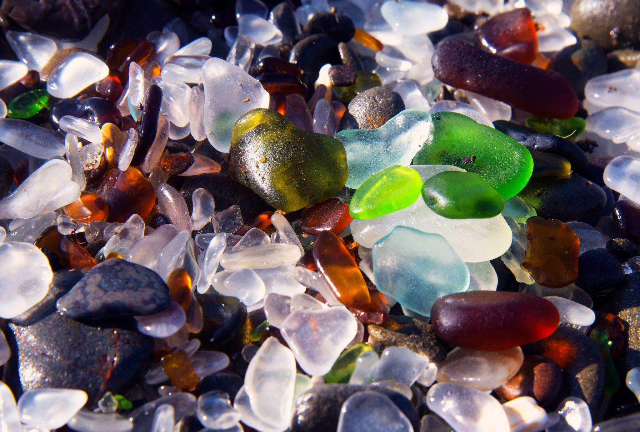 plage de verre fort Bragg, Californie