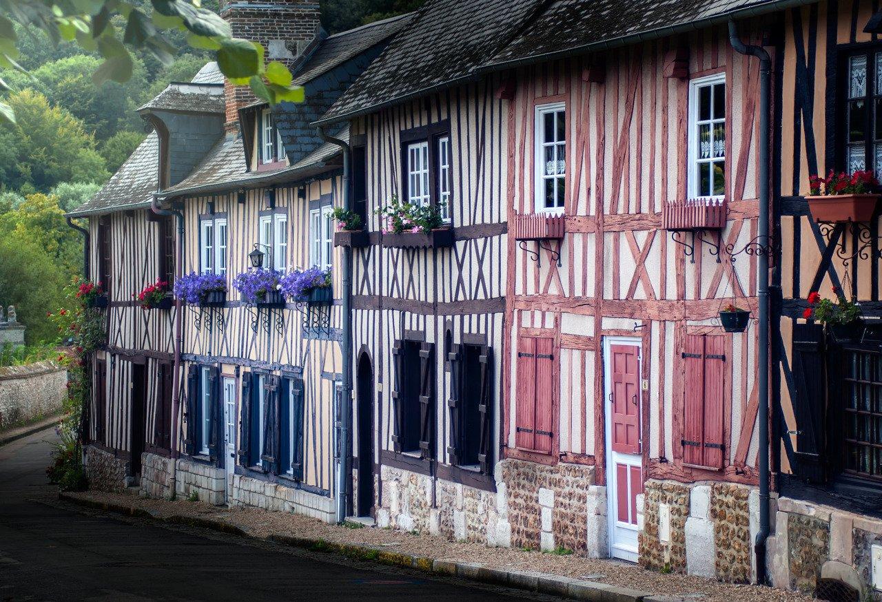 Lyons-la-Forêt, Eure, colombages